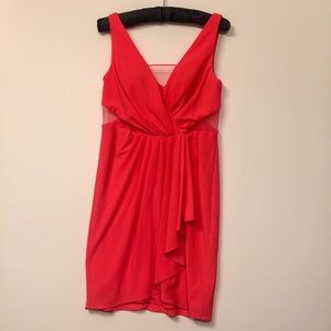 5/20$ Adrianna Papell Coral Pink Draped Dress (6)